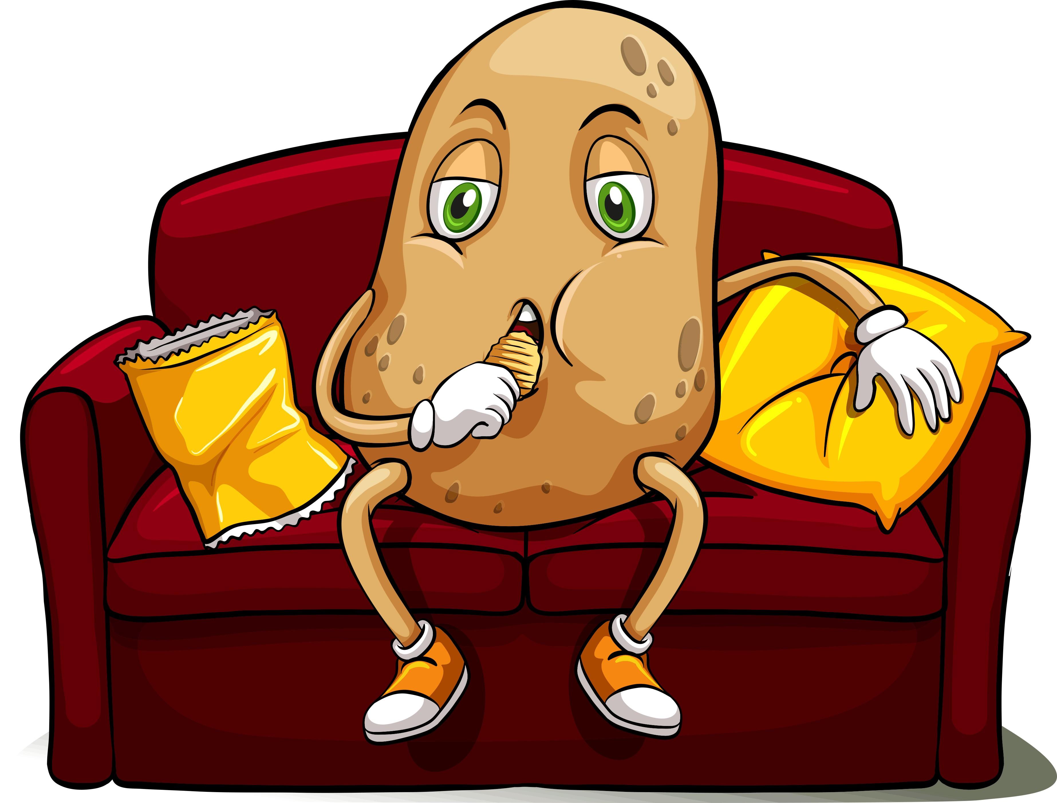 「couch potato」の意味は「ダラダラする人」。使い方を解説!